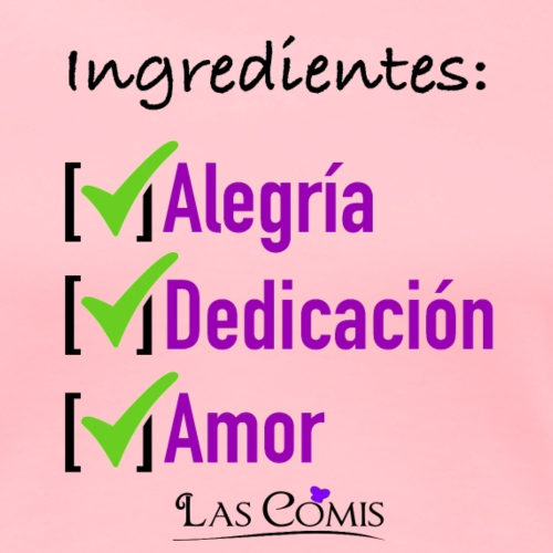 Lista de Ingredientes - Women's Premium T-Shirt
