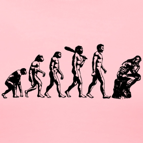Evolution to Thinker - Women's Premium T-Shirt