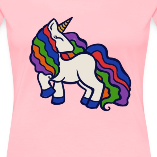Rainbow Unicorn - Women's Premium T-Shirt