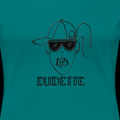 Dudette Head 2 - Women's Premium T-Shirt