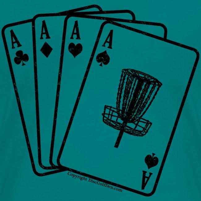Disc Golf Aces Black Print Shirt