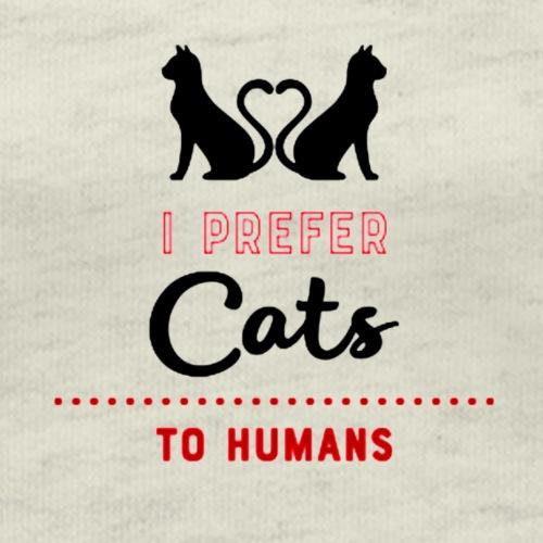 Prefer Cats - Women's Premium T-Shirt