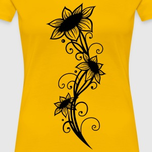 Large sunflowers with filigree ornament. - Women's Premium T-Shirt
