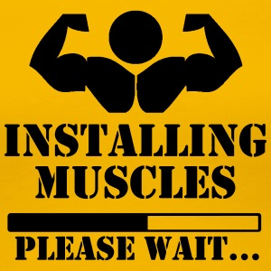 Installing muscles, please wait loading - Women's Premium T-Shirt