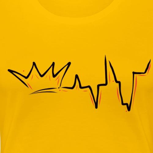 A Queen's Heartbeat - Women's Premium T-Shirt