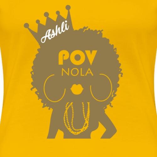 Ashli Personalized New Gold - Women's Premium T-Shirt