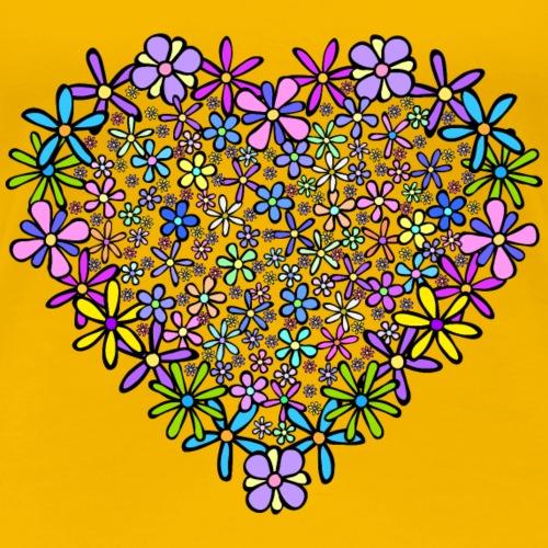 Flowering Heart - Women's Premium T-Shirt