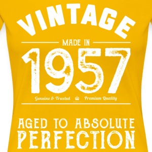 60th Birthday Gift: Vintage 1957 Aged Perfection - Women's Premium T-Shirt