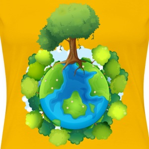 tree forest nature planet - Women's Premium T-Shirt