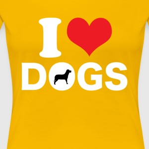 I Love Dogs T-shirt - Women's Premium T-Shirt