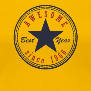 51st Birthday Awesome since T Shirt Made in 1966 - Women's Premium T-Shirt