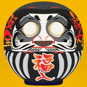 Daruma, a symbol of perseverance and good luck - Women's Premium T-Shirt