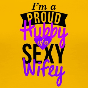 Wifey and hubby couple shirt design - Women's Premium T-Shirt