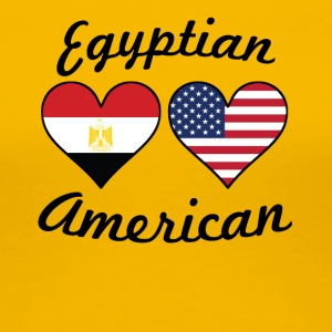 Egyptian American Flag Hearts - Women's Premium T-Shirt