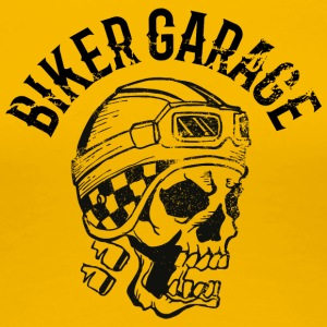 Biker garage skull tatoo - Women's Premium T-Shirt