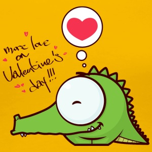 crocodile alligator animal more love on Valentines - Women's Premium T-Shirt