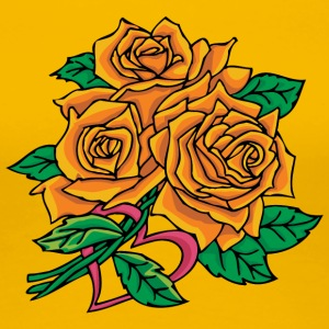 big_yellow_roses - Women's Premium T-Shirt