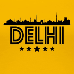 Retro Delhi Skyline - Women's Premium T-Shirt