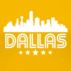 Retro Dallas Skyline - Women's Premium T-Shirt