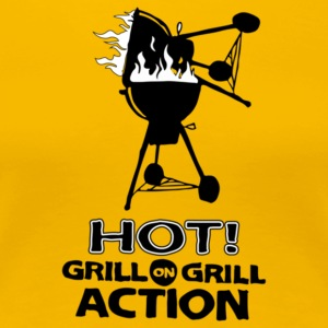 Hot Grill on grill action - Women's Premium T-Shirt