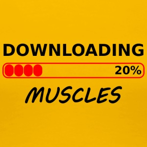 downloading muscles tshirt - Women's Premium T-Shirt