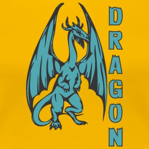 Dragon_with_long_wings_colored - Women's Premium T-Shirt