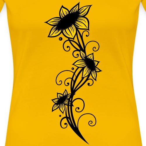 Sunflowers ornament, summer - Women's Premium T-Shirt