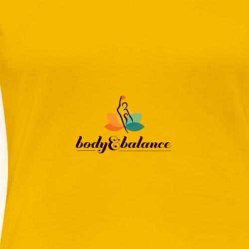 body and balance logo black text center - Women's Premium T-Shirt