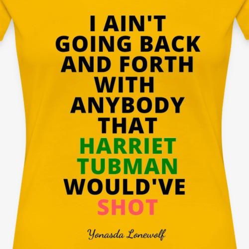 Harriet Tee Blk Ltrs Trans - Women's Premium T-Shirt