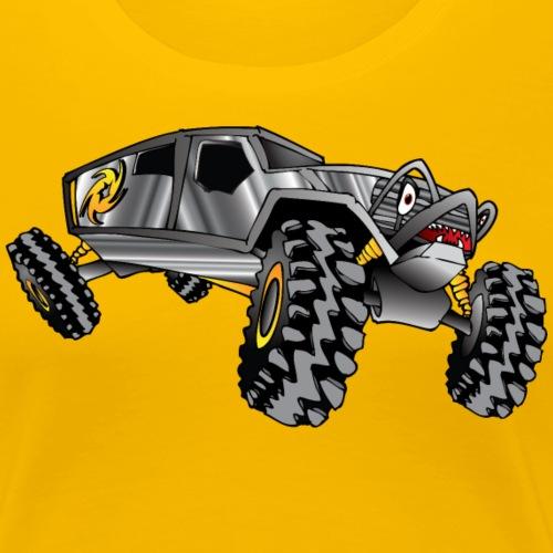 Rock Crawling Monster Truck Silver - Women's Premium T-Shirt