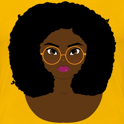 Curly with glasses - Women's Premium T-Shirt