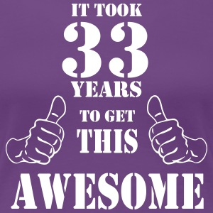 33rd Birthday Get Awesome T Shirt Made in 1984 - Women's Premium T-Shirt