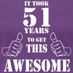 51st Birthday Get Awesome T Shirt Made in 1966 - Women's Premium T-Shirt