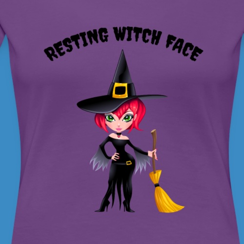 Resting Witch Face - Women's Premium T-Shirt