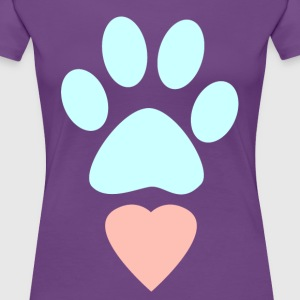 Dog Love Paw Heart - Women's Premium T-Shirt
