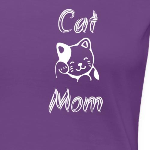 Cat MOM (white ink) - Women's Premium T-Shirt