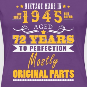 Vintage made in 1945 - 72 years to perfection (v.2017) - Women's Premium T-Shirt