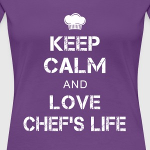 Keep calm Chef T-Shirts - Women's Premium T-Shirt