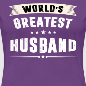 World s Greatest HUSBAND - Women's Premium T-Shirt