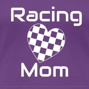 racing mom heart white - Women's Premium T-Shirt