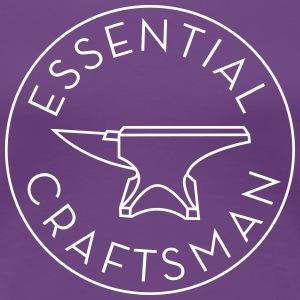 Essential Craftsman Logo - White - Women's Premium T-Shirt