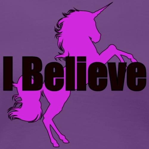Unicorn pink and black - Women's Premium T-Shirt