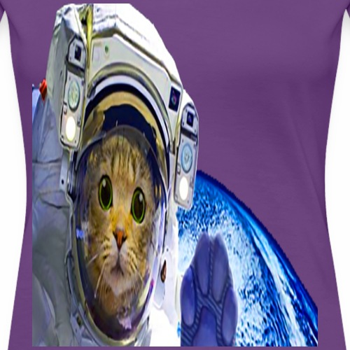 CAT SPACE SHIP CAPTAIN CREW GIFT T-SHIRT - Women's Premium T-Shirt