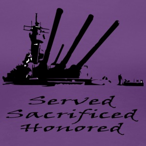 Navy Served Sacrificed Honored - Women's Premium T-Shirt