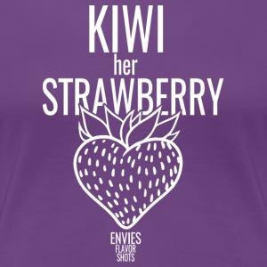 Kiwi Her Strawberry White - Women's Premium T-Shirt