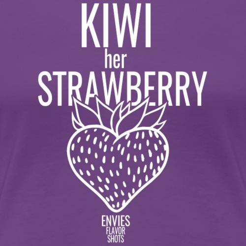 Kiwi Her Strawberry White - Women's Premium T-Shirt
