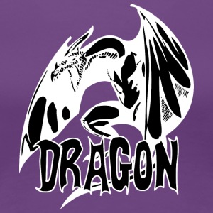 angry_dragon_2_black - Women's Premium T-Shirt