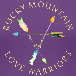 Rocky Mountain Love Warriors - Purples and Blues - Women's Premium T-Shirt