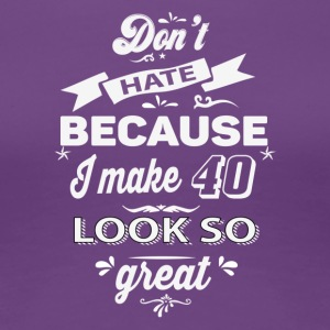 40th birthday designs - Women's Premium T-Shirt