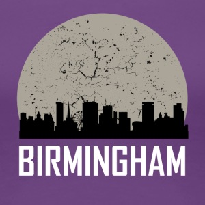 Birmingham Full Moon Skyline - Women's Premium T-Shirt